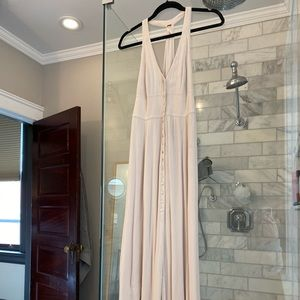 Free People Button Front Nude Maxi Dress